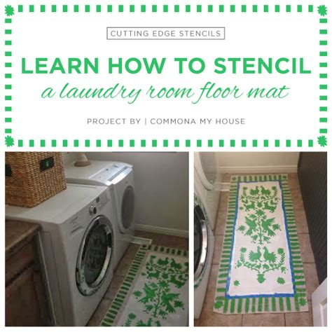 Laundry Room Floor Mat by Learn How To Stencil A Laundry Room Floor Mat 171 Stencil