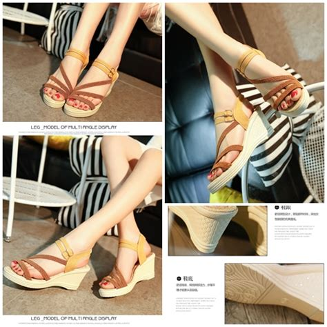 Modis Wedges jual shw6001 brown sepatu wedges modis 5cm grosirimpor