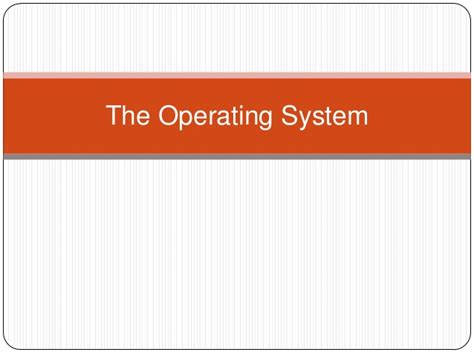 The Operating System Of Jesus the operating system pres