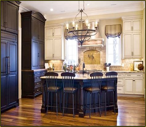 black kitchen island white cabinets quicua com dark cabinets with antique white island savae org