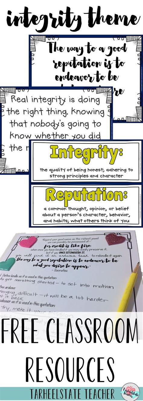 integrity themed morning meeting resources for character