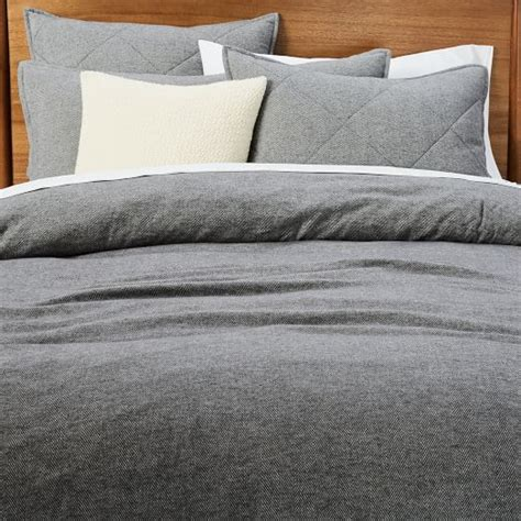 herringbone bedding flannel herringbone duvet cover shams west elm