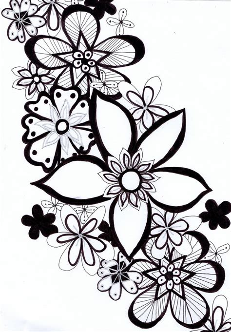 doodle flower simple 10 best images about doodle flowers on
