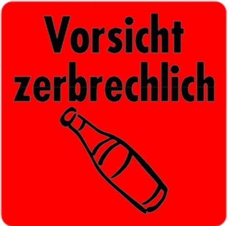 Logo Aufkleber Auf Rolle by Aufkleber Vorsicht Zerbrechlich Je Rolle 100 Etiketten 40x40mm