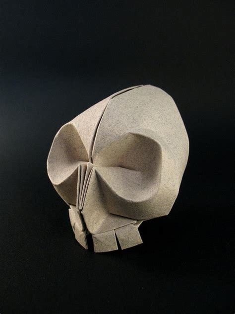 Origami Skull - beautiful folded paper by origami artist