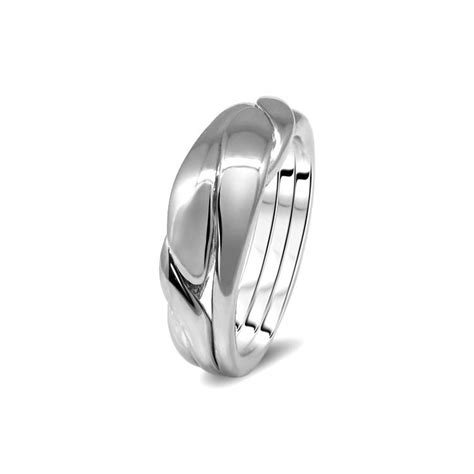unisex silver 3wbd u puzzle rings creations