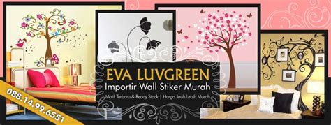 Murah Meriah Menjual Beraneka Wallpaper Sticker profile penjual wall stiker luvgreen toko wallpaper sticker murah 088 14 99 6551