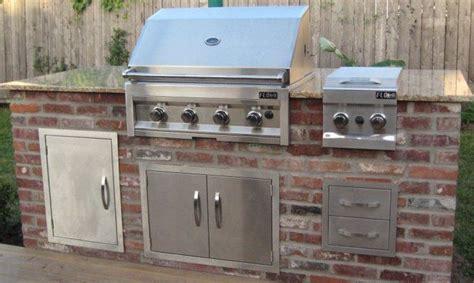 brick outdoor kitchen brick veneer outdoor kitchen for the home pinterest