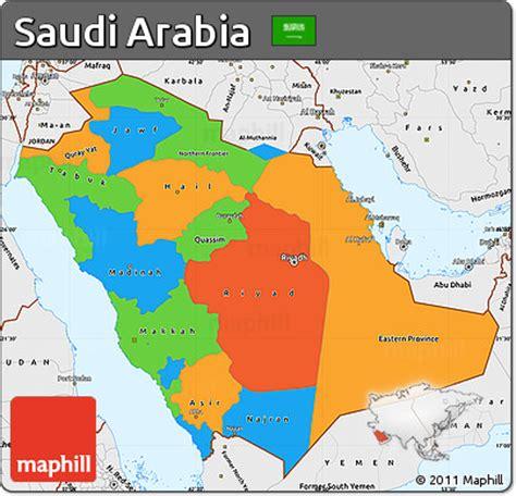 political map of saudi arabia saudi arabien politische karte