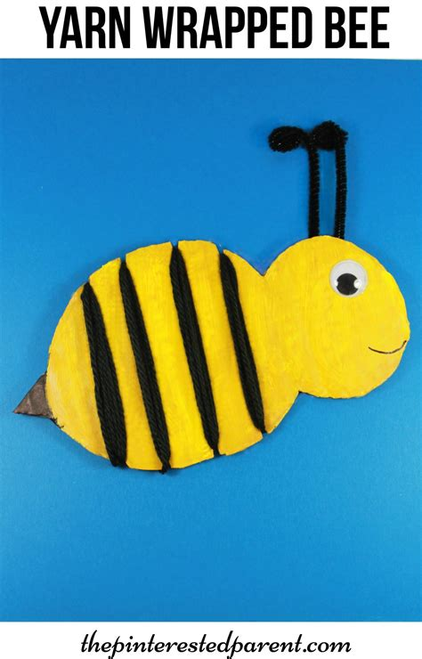 Bumble Bee Paper Plate Craft - yarn wrapped bumble bee craft the pinterested parent