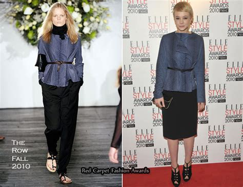 Careys The Runway Look by Runway To 2010 Style Awards Carey Mulligan In The