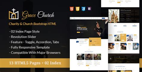 bootstrap themes nulled grace church charity church bootstrap html template