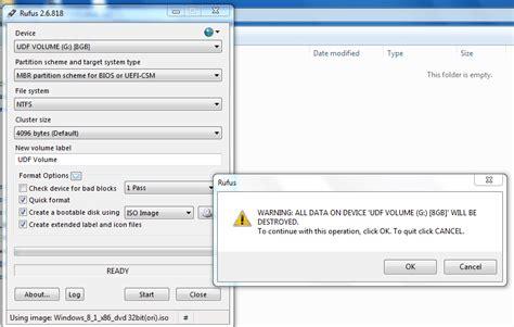tutorial rufus windows 7 cara membuat flashdisk bootable dengan rufus untuk install