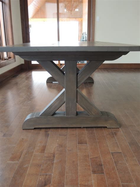 Kitchen Table Base Kitchen Table Base X Atelier Meuble Rustique