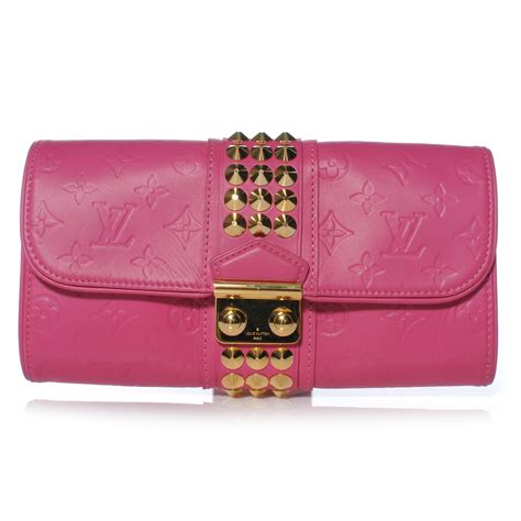 Louis Vuitton Leather Embossed With Clutch 9311 louis vuitton embossed leather pochette clutch fuchsia