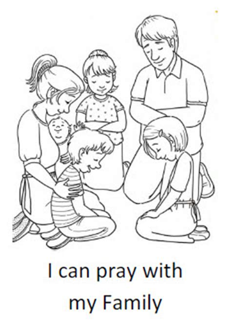 coloring pages family praying together i can pray with my family coloring sheet