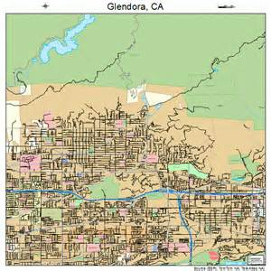 glendora california map 0630014