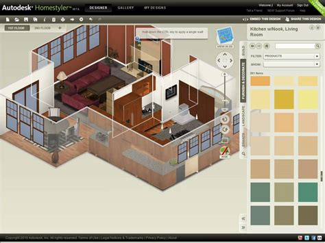 homestyler online 2d 3d home design software autodesk homestyler refine your design youtube