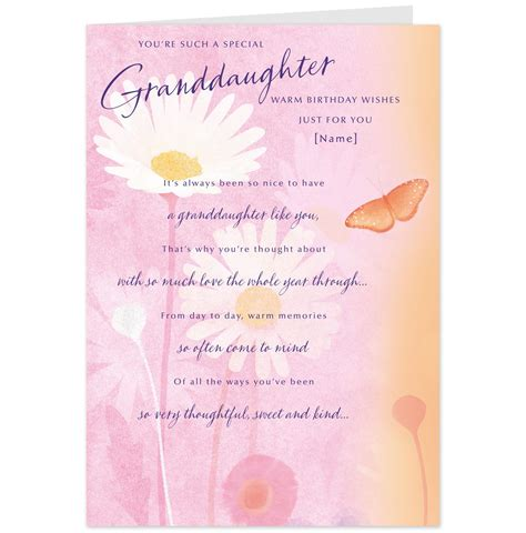 Granddaughter Birthday Card Hallmark Cards Greetings Cards And Gifts