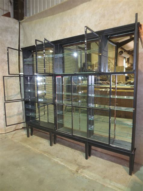 mirror backed display cabinets mirrored back shop display cabinet antiques atlas