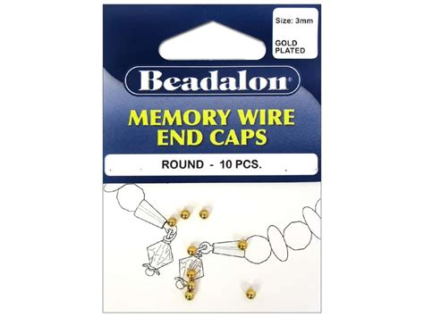 memory wire end beadalon memory wire end caps 3 mm 10 pc gold ebay