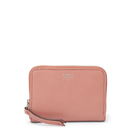 Fossil Rainbow Leather 2 Warna new fossil s sydney zip multifunction pink