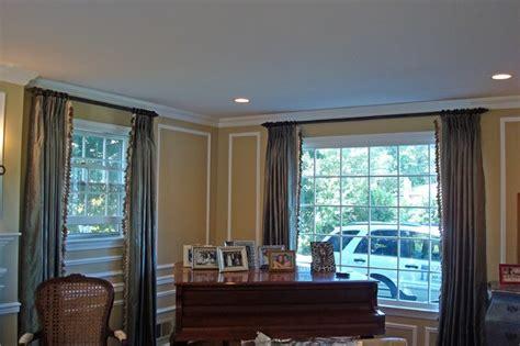 Designer Window Treatments Living Room Custom Window Treatments