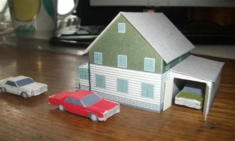 new paper craft a paper model house for diorama ver 2