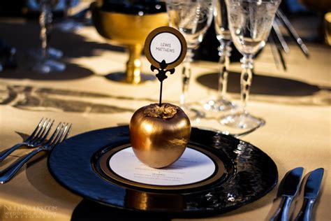 gold themes name a must see gallery wedding and event stationery