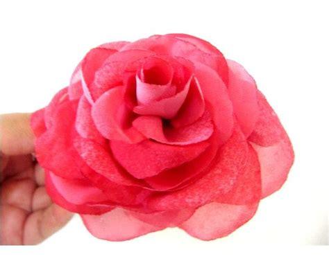 tutorial bunga ros organza rosas de gasa mo 241 os para el cabello paso a paso flores