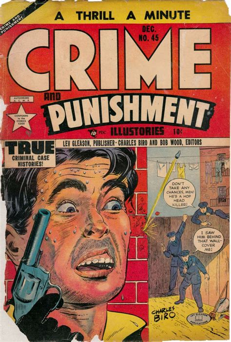 crimes and books crime and 45 lev gleason comic house