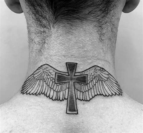 small cross with wings tattoo 40 small religious tattoos for spiritual design ideas