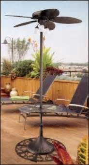 outdoor stand up quot oasis quot patio ceiling fan with
