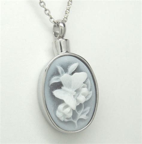 butterfly cremation jewelry cremation urn necklace