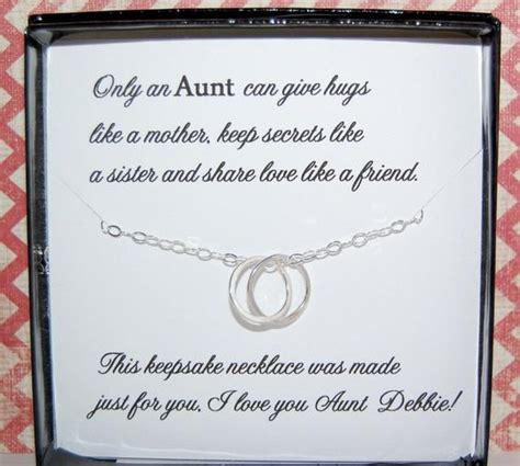 sentimental gifts for nephews necklace poem for aunts gift from niece by soblesseddesigns