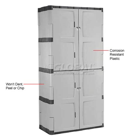 plastic storage cabinets with doors cabinets plastic rubbermaid 7083 plastic storage
