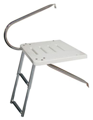 outboard motor boat ladder outboard transom platform telescoping ladder platform