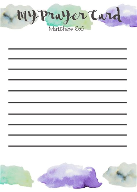 prayer card template printable prayer card