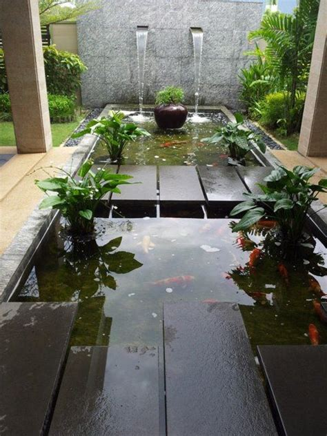 Water Heater Kolam Ikan wall with waterfall structure desert cottage walls pond and water features