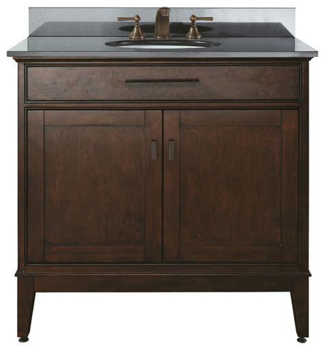 36 Bathroom Vanity With Granite Top 36 Vanity Combo Tobacco Black Granite Top Contemporary Bathroom Vanities And Sink