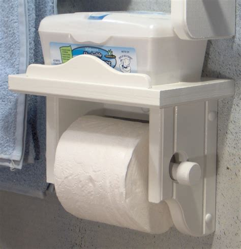 bathroom wipes holder white toilet paper holder with shelf by jahnjed on etsy