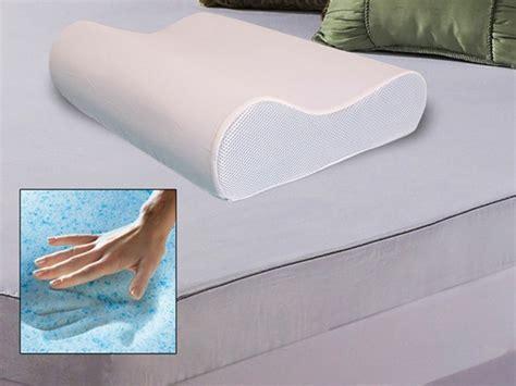 Home Design Memory Foam Gel Overlay Pillow Gel Memory Foam Contour Pillow W Vented Cover