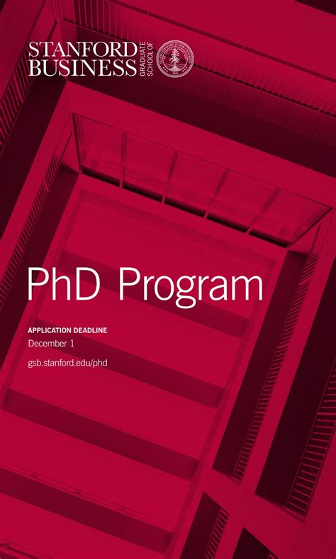 Stanford Mba Brochure by Stanford Gsb Phd Program Brochure By Stanford Msx Program