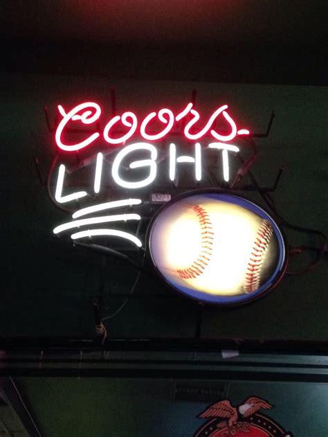 coors light beer sign neon beer sign coors light baseball neon beer signs