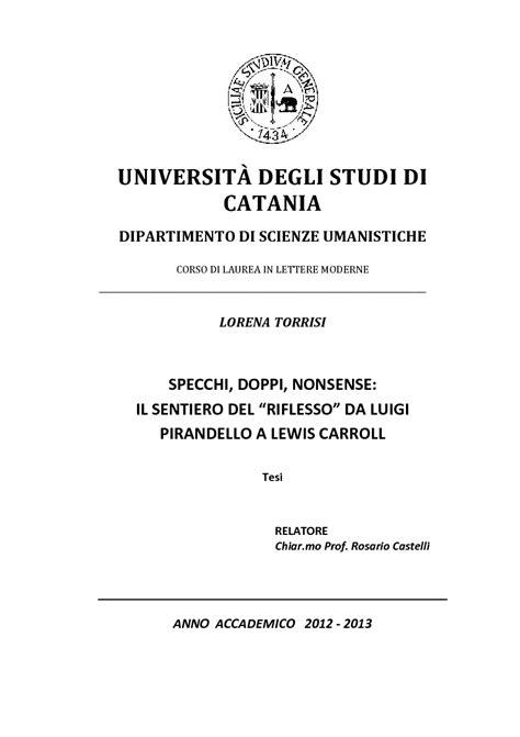 laurea in lettere universit 192 degli studi di catania dipartimento di scienze