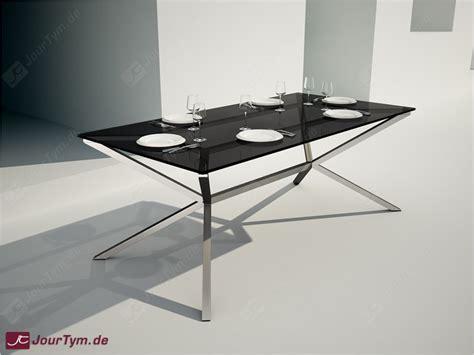 steel esszimmertisch design esszimmertisch xsteel jt47p09 edelstahl rauchglas