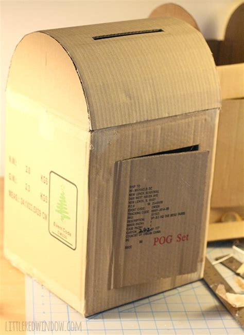 How To Make A Post Box Out Of Paper - diy cardboard mailbox window