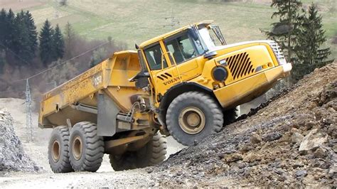 volvo ad dump truck   quarry part  youtube