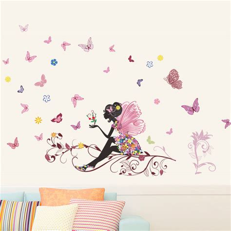 wall stickers childrens room aliexpress buy butterfly flower wall stickers