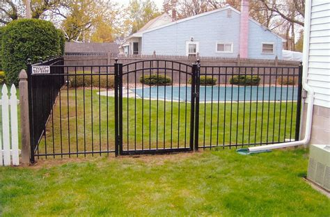 gates for backyard ornamental aluminum fence backyard fence company